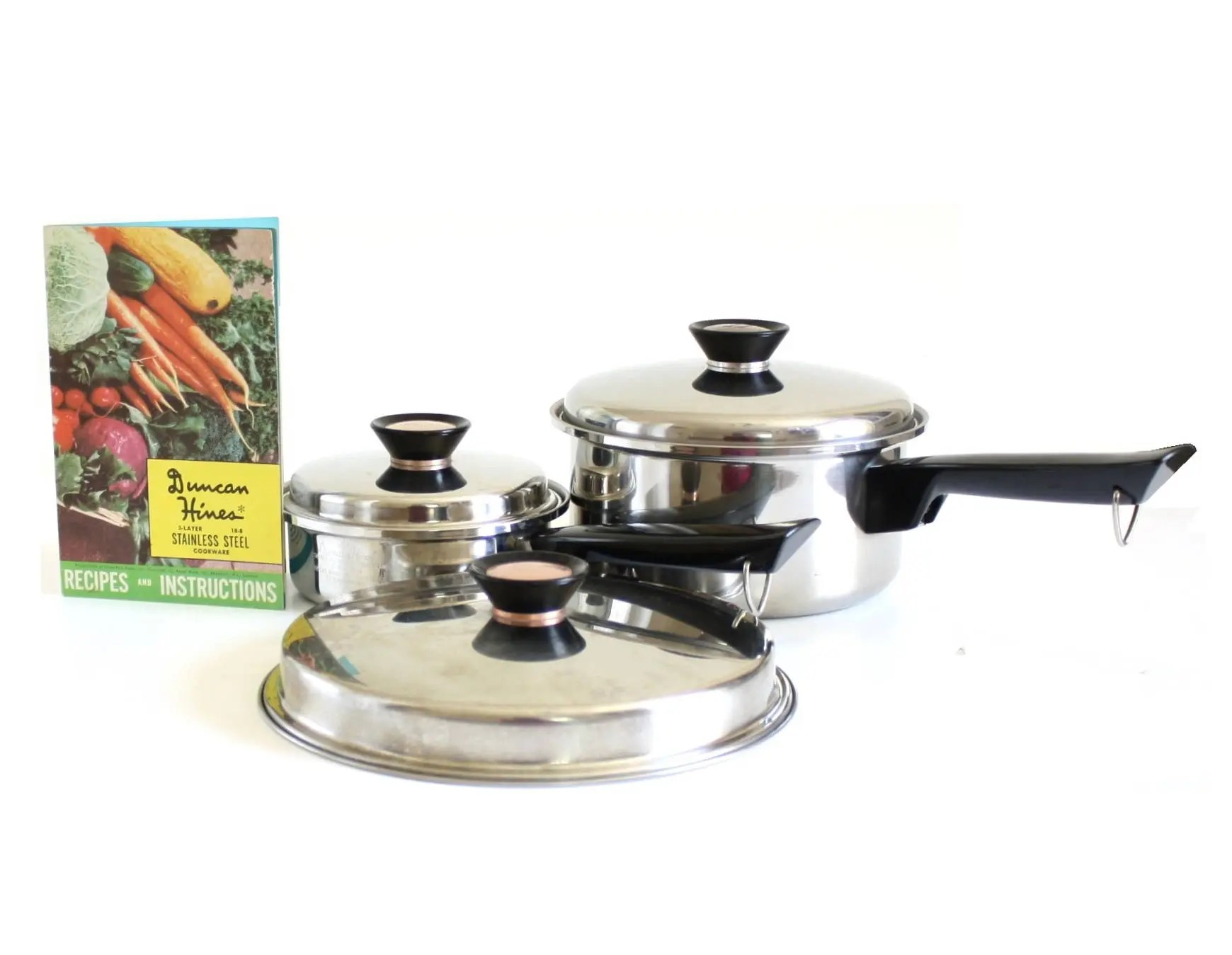 kitchen pots and pans cabinet plans duncan hines saucepan or skillet lid cookware 3 etsy image 0