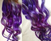 purple ombre dip dyed hair clip