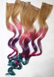 ombre tie dye hair tips dirty blonde