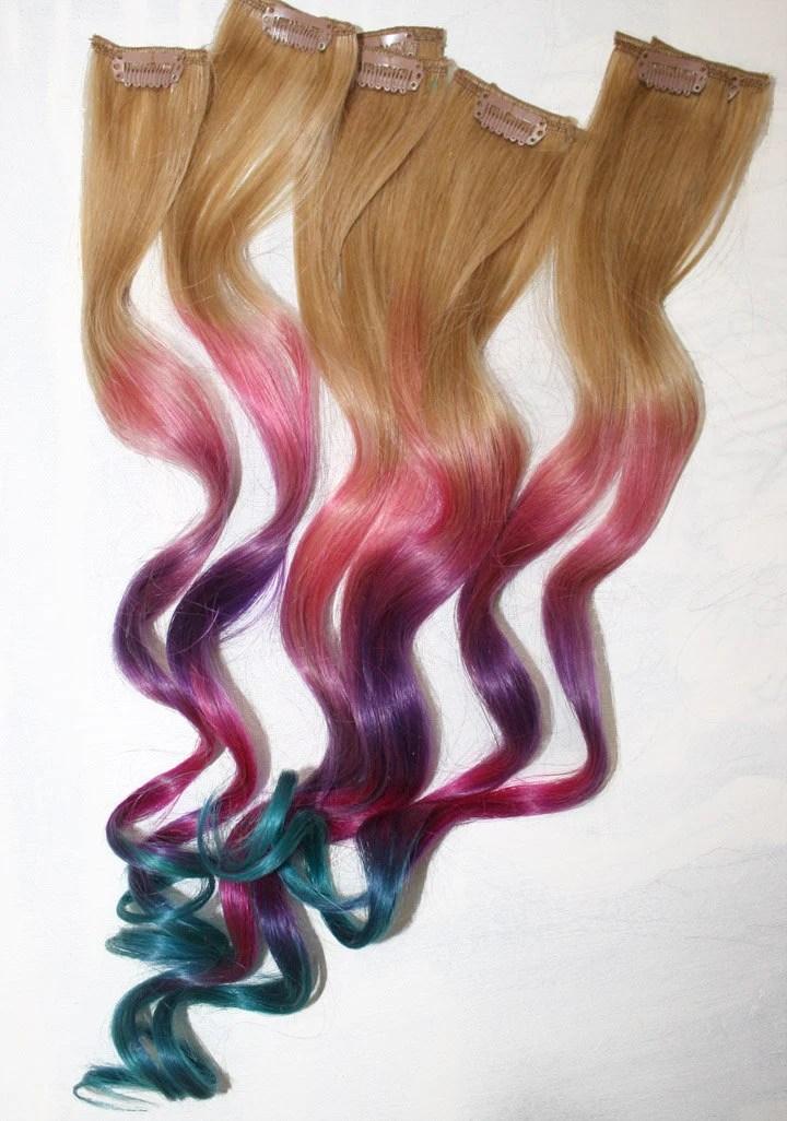 ombre tie dye hair