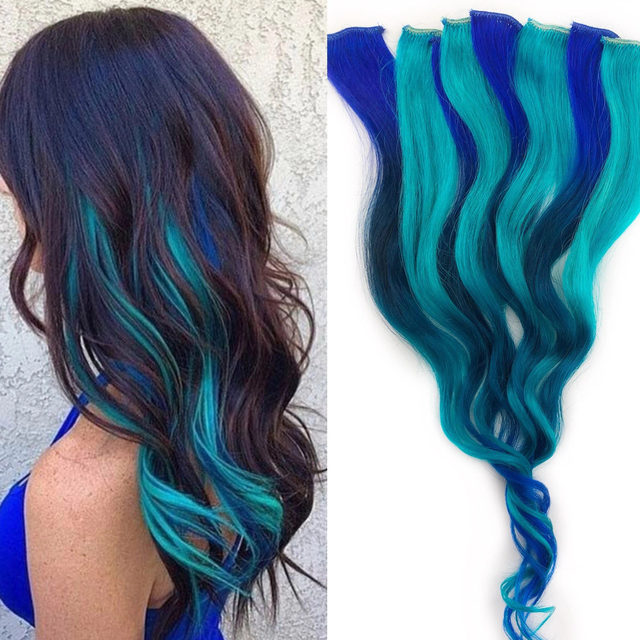 ombre turquoise teal blue