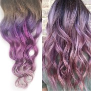 pale mauve muted rose hair extensions
