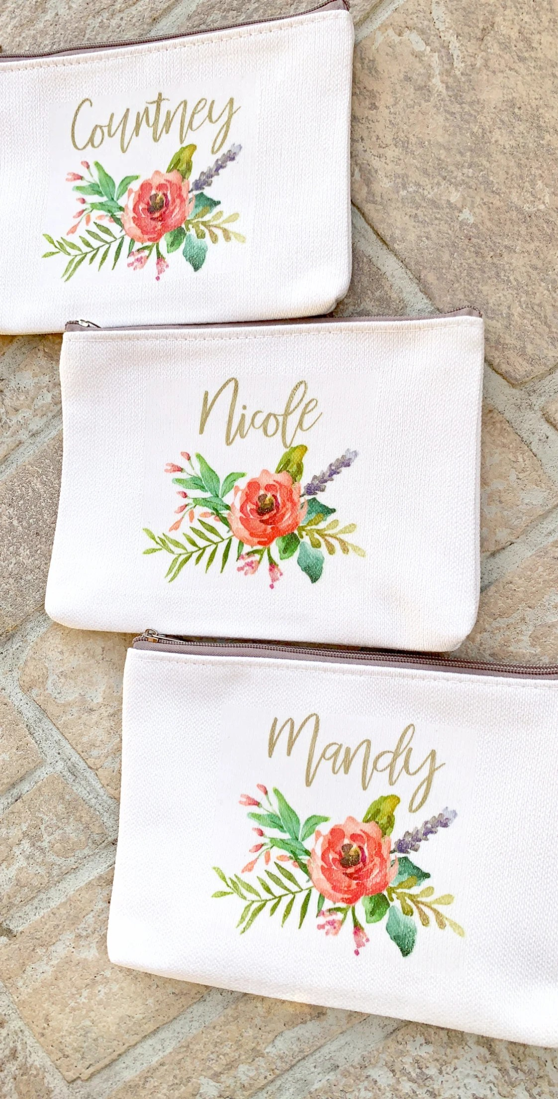 Personalized Makeup Bag Wedding Party Gift for Bridesmaids image 5