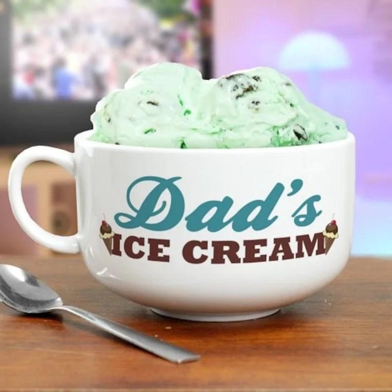 personalized ice cream bowl