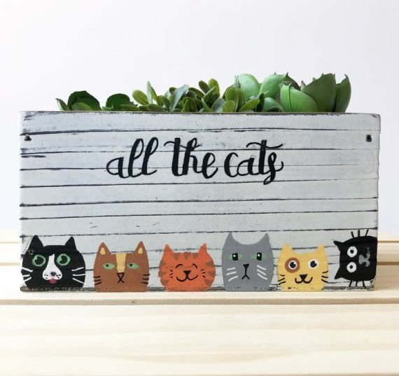 Personalized Cat Planter from Lea Joelle Handmade on Etsy