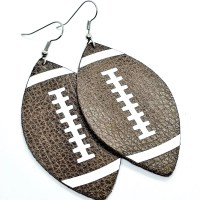 Football Leather Earrings 3 sizes available and ready to
