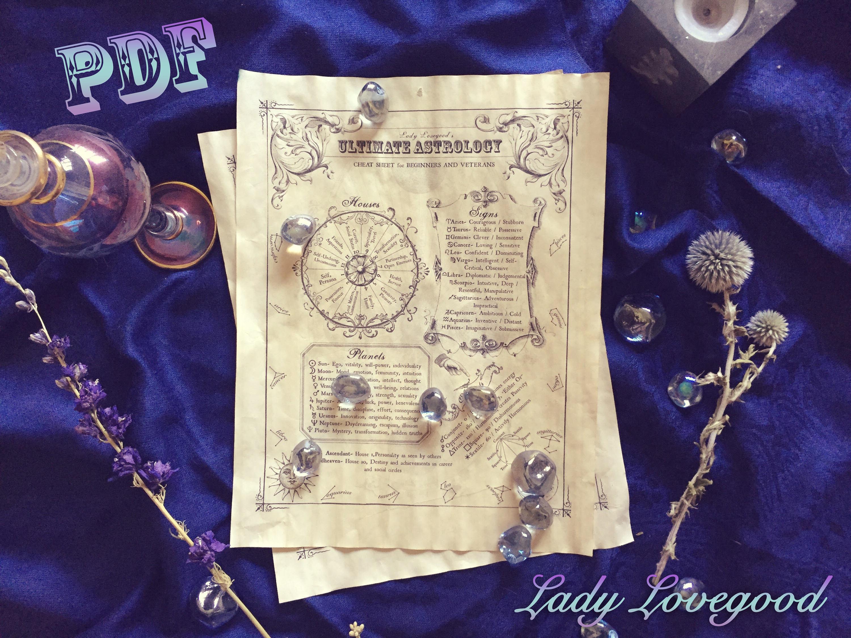 Astrology Cheat Sheet Printable