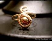 Gold Metallic Caged Adjus...