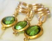 Queen in Green Loc Jewels...