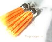 Vibrant Orange Tassel Ear...