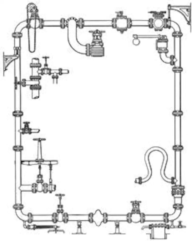 medium resolution of plumbing pipes schematic diagram tech plans blueprint design image 0
