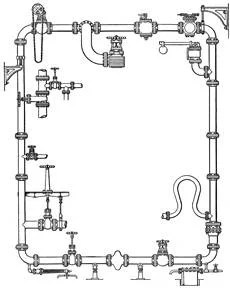 hight resolution of plumbing pipes schematic diagram tech plans blueprint design image 0
