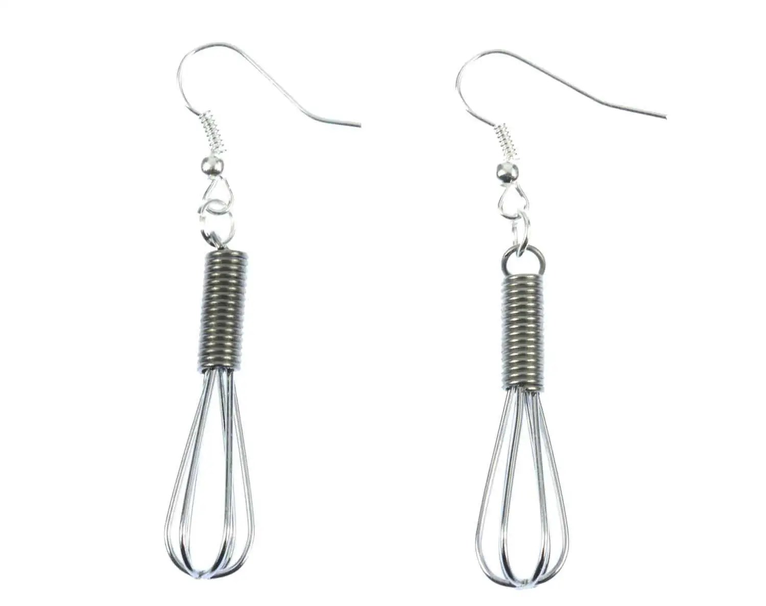 Whisk Earrings Miniblings Whisk Food Cook Kitchen Cooking