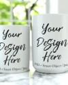 Two Mug Mockup 11oz And 15oz Mugs Mock Up White Coffee Mug Etsy