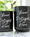 Two Mug Mockup 11oz And 15oz Mugs Mock Up Black Coffee Mug Etsy