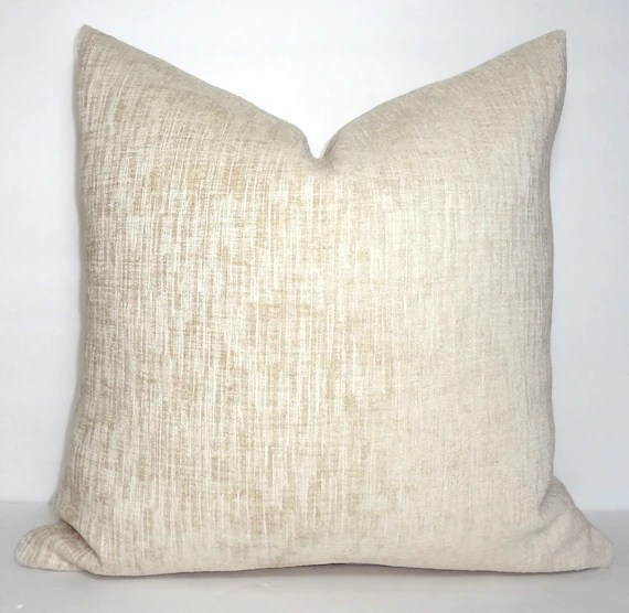 pillow covers for living room how to decor my neutral soft textured ivory cover bedroom etsy image 0