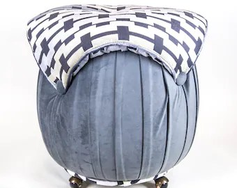 mushroom bean bag chair collapsible plans bags etsy top zink velvet with grey ottoman tufted button small seating decor children s floor pillow