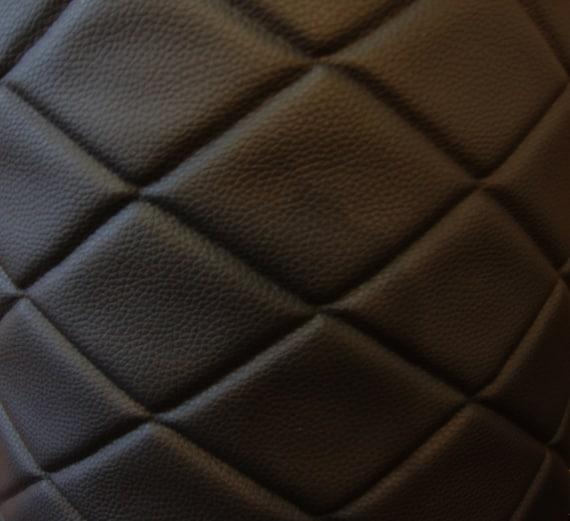 Upholstery Vinyl Leather Faux vinyl Black 6x4