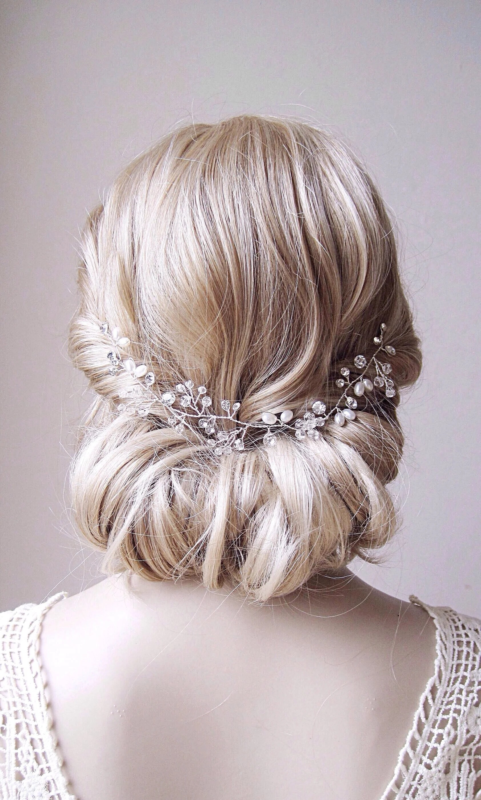pearl hair vine pearl and crystal wedding hair piece pearl wedding hair vine bridal hair piece pearl bridal hair vine