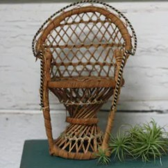 Vintage Peacock Chair Covers Using Pillow Cases Small Etsy Miniature Rattan Planter Boho
