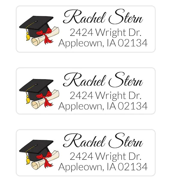 Items similar to Graduation Address Label, Class of 2018