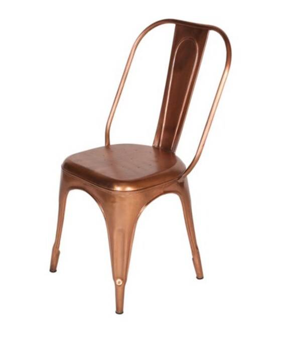 tolix side chair kids saucer chairs custom copper style dining high back etsy