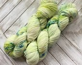 In Stock | Hand Dyed Yarn | Indie Dyed | Fingering Weight | Superwash Merino Wool | Speckled | Green | Blue
