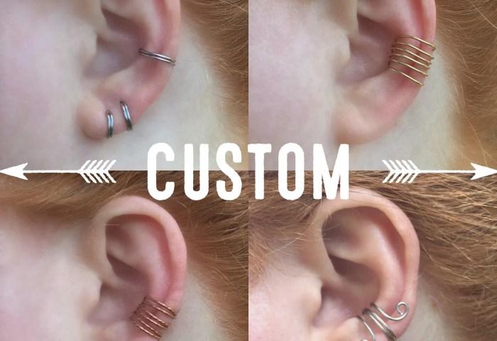 Ear Cuff No Piercing Non Pierced Ear Cuff Bohemian Ear Etsy