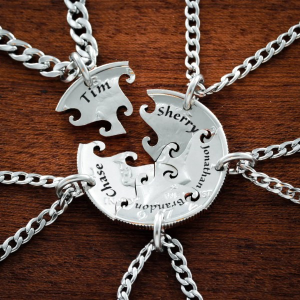 5 Friend Necklaces Custom Bff