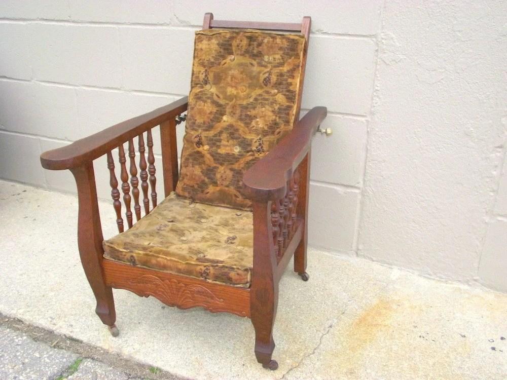 - Antique Morris Recliner Chair