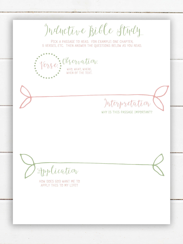 Happy Planner Printable Bible Study Journal Printable