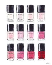 chanel nail polish pink red art
