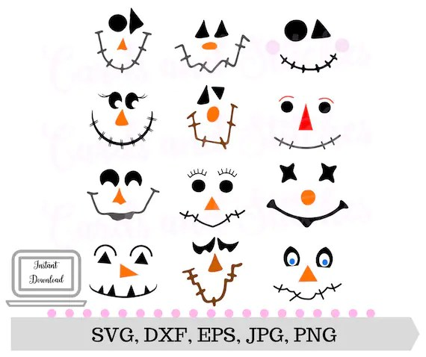 scarecrow faces svg