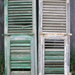 Shutters Mediterranean Shutter Window Antique Wooden Architectural Rustic Old Shutters Salvage Wall Decor Piece Chippy Green Paint