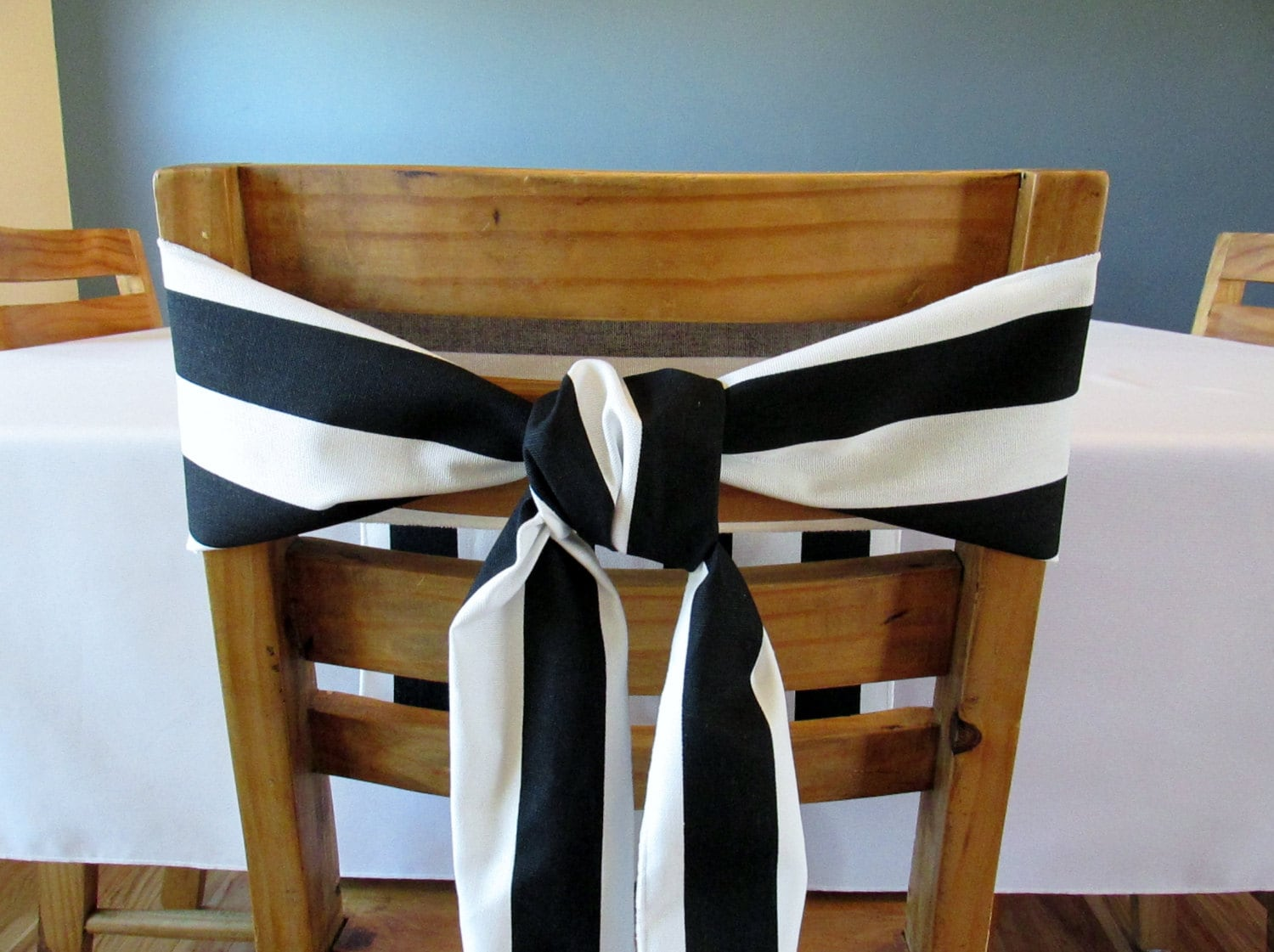 Blue And White Striped Chair Navy Blue And White Striped Chair Sash Select A Size And Thread Color For Edges