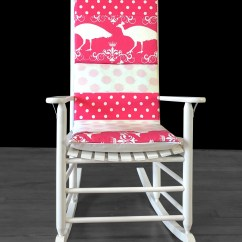 Polka Dot Rocking Chair Cushions Foldable Chairs White Pink Pad Etsy Peacock Cushion