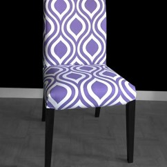 Dining Chair Covers In India Round Farmhouse Table 6 Chairs Pair Purple Indian Style Ikea Henriksdal Etsy Image 0