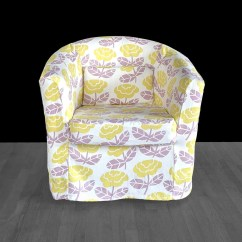 Ikea Linen Chair Covers Cafe Style Wooden Chairs Tullsta Cover Yellow Lavender Flower Print Etsy Image 0