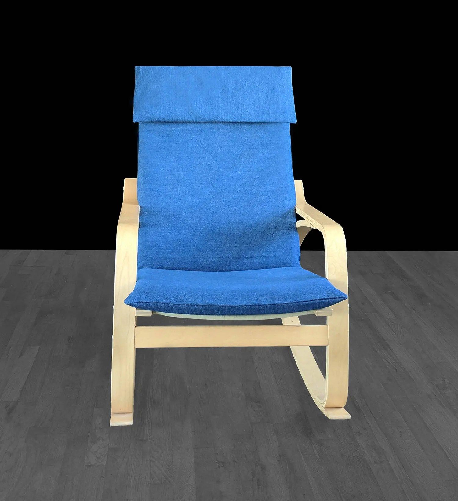poang chair covers etsy gym twister seat dark denim blue ikea cover image 0