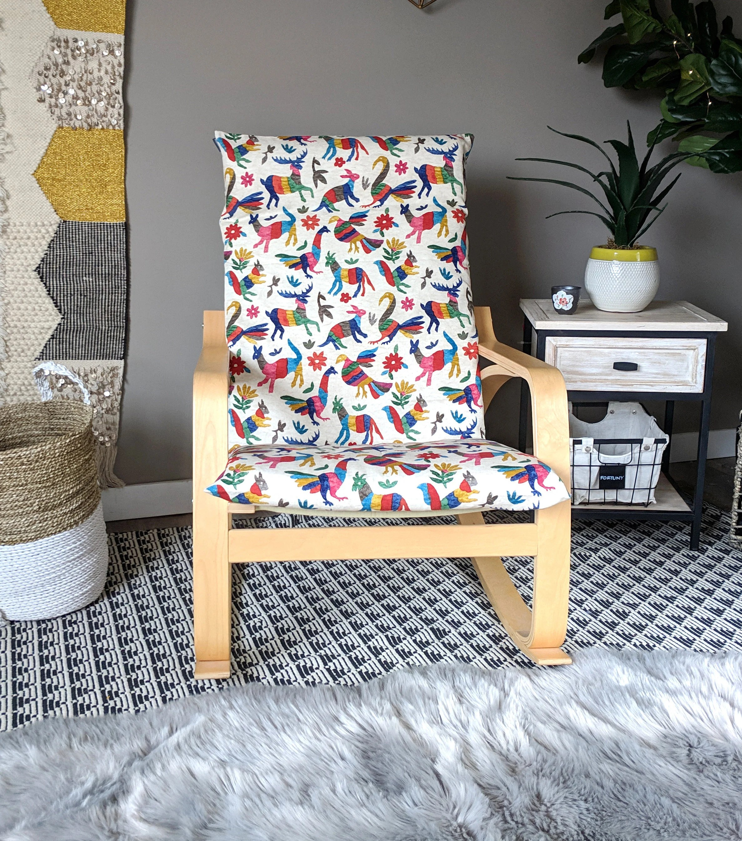 custom chair covers ikea buy otomi animal seat cover poang etsy image 0