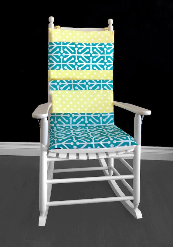 polka dot rocking chair cushions drop leaf dining table with folding chairs yellow cushion cover etsy image 0