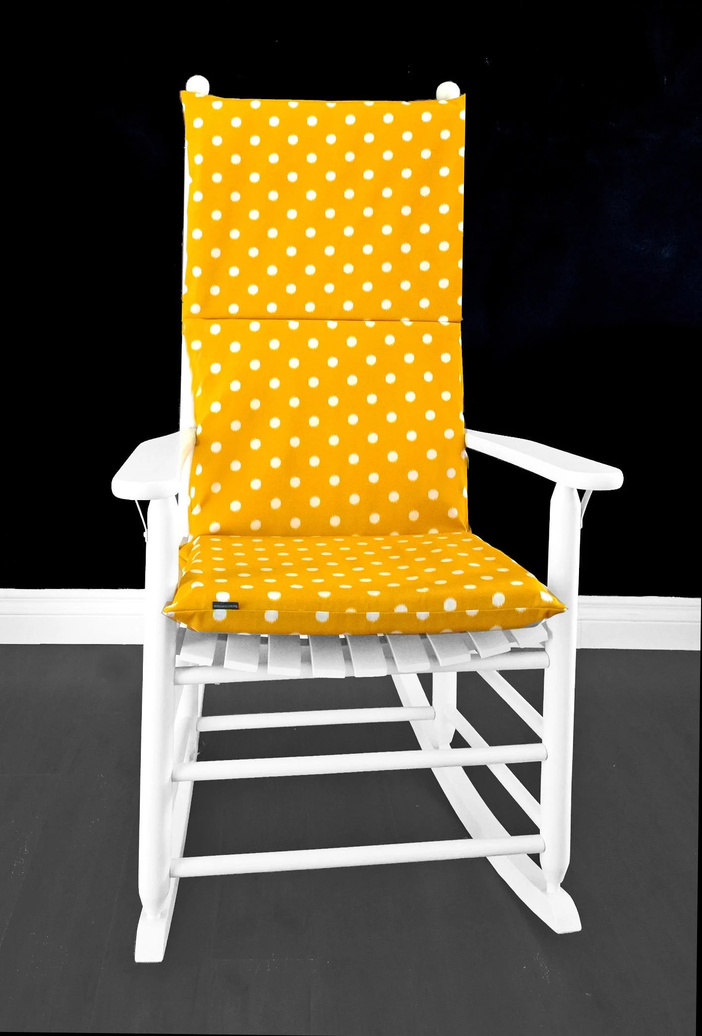 Rocking Chair Covers Gold Yellow Polka Dots Rocking Chair Cover Kids Nursery Room