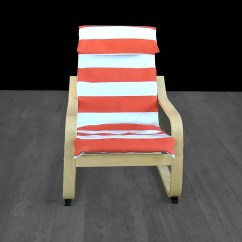 Ikea Orange Chair Covers Pine Kitchen Chairs Cabana Stripe Kids Poang Cover Etsy Image 0