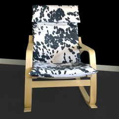Poang Chair Covers Etsy Fairfield Company Reviews Cow Print Cover Farm House Ikea Image 0