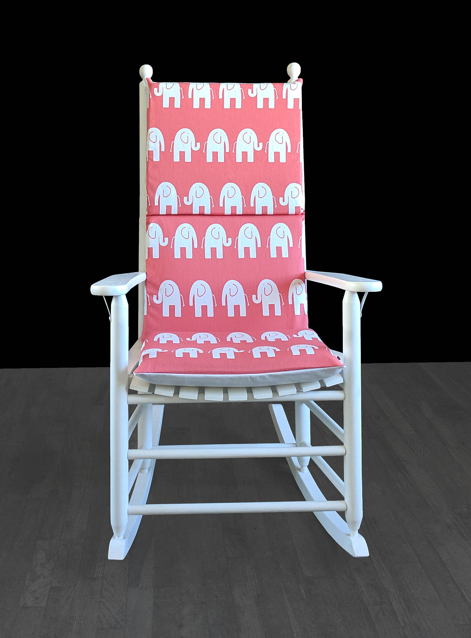 Pink Rocking Chair Cushions Coral Pink Elephants Rocking Chair Covers Kids Nursery