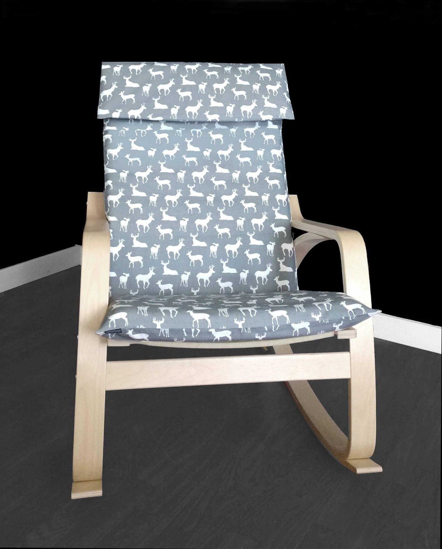 custom chair covers ikea wedding cover hire moray deer seat poang
