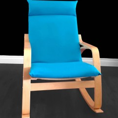 Ikea Poang Chair Cover Folding Egg Turquoise Solid Blue Seat Etsy Image 0