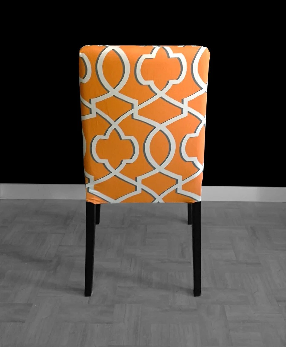 ikea orange chair covers meditation custom henriksdal dining cover gallery photo