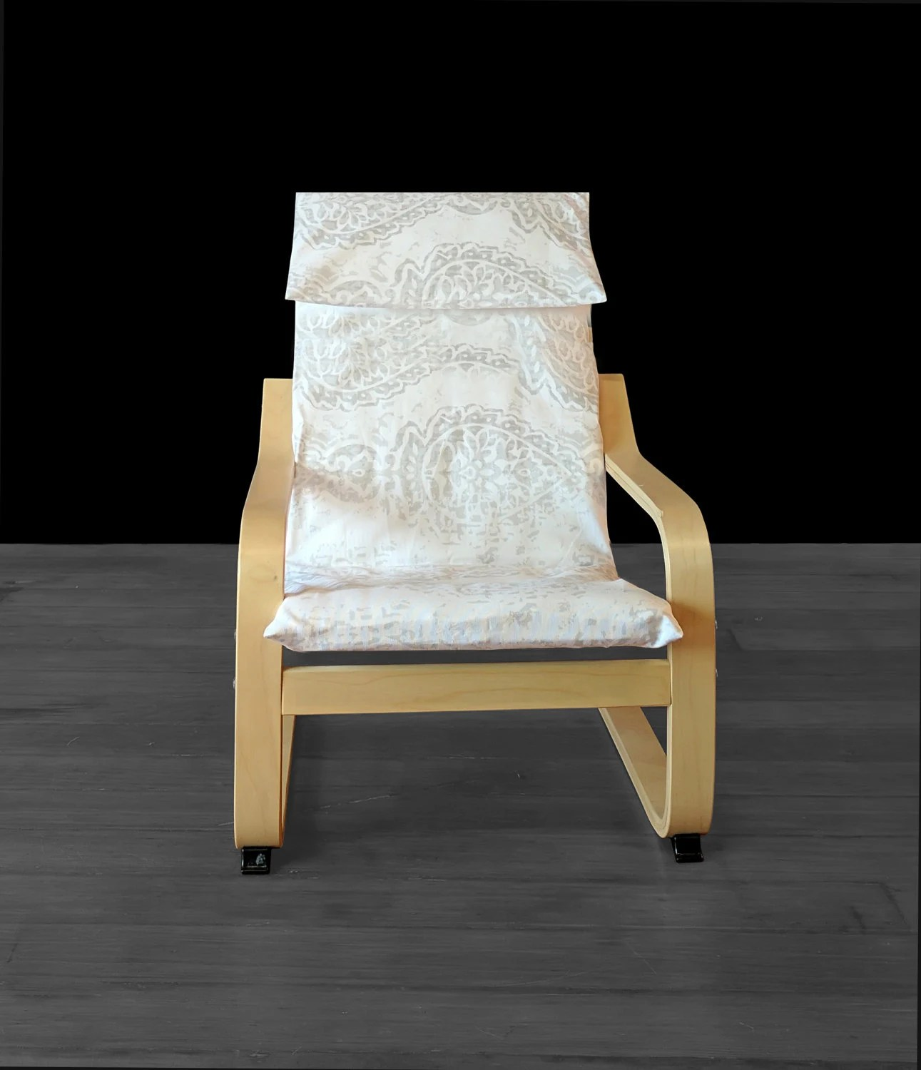 poang chair covers etsy cheap folding chairs childrens ikea cover image 0
