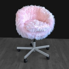 Pink Slipcover Chair Counter Height High Ikea Fur Skruvsta Slip Cover Etsy Image 0